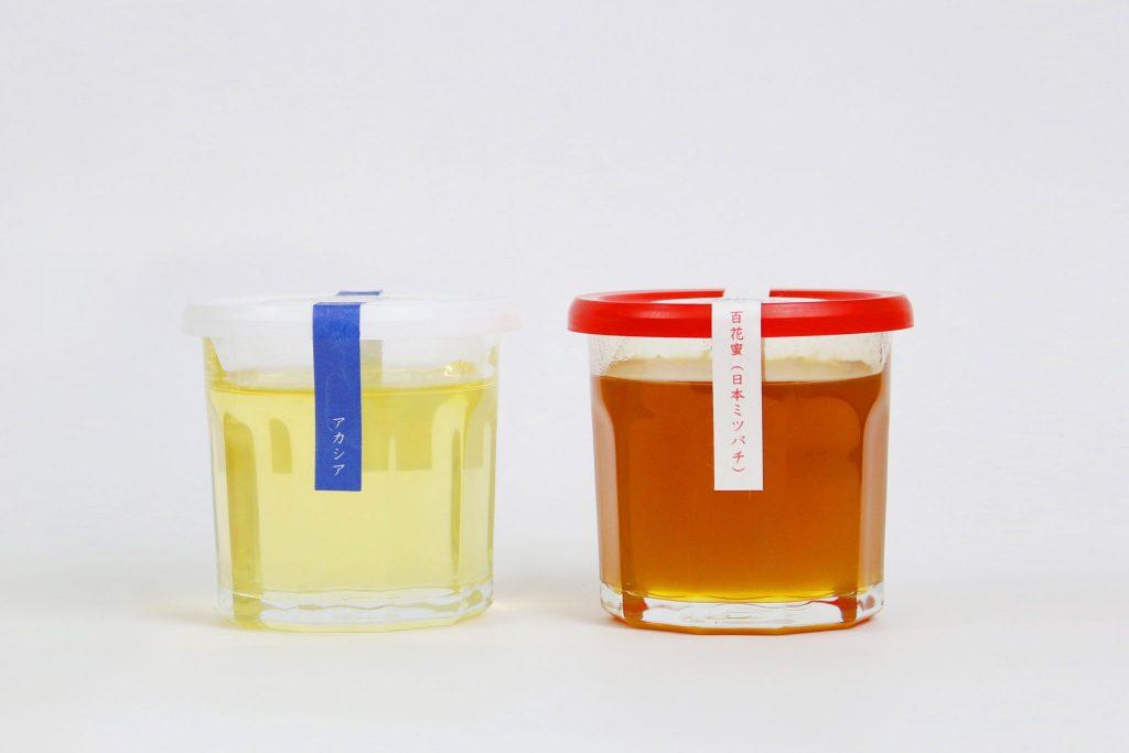 山梨産百花蜜(日本ミツバチ)&信州産アカシア蜜(西洋ミツバチ)セット L(300g×2))