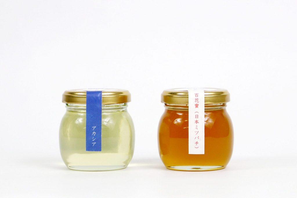 山梨産百花蜜(日本ミツバチ)&信州産アカシア蜜(西洋ミツバチ)セット M(120g×2))